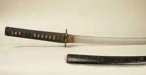 Samurai Sword Katana in plain mounts, with older, smith made blade.