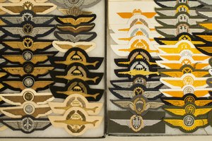 West German and Modern German Flight Badges and Wings (2 Frames)