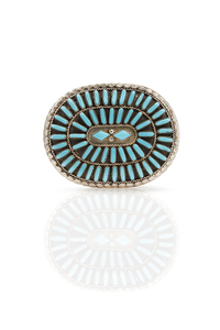 Southwest Silver and Turquoise Buckle