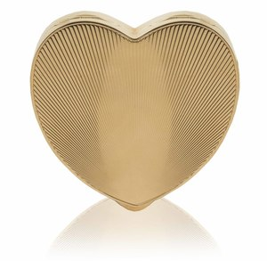 Heart Shaped 14k Gold Compact