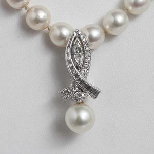 Pearl Diamond 14k Necklace