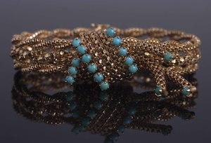 Turquoise 18k Bracelet