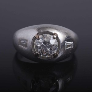 Diamond Platinum Gent's Ring
