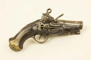 Spanish Miguelet lock flintlock Pocket Pistol, ca. 1770