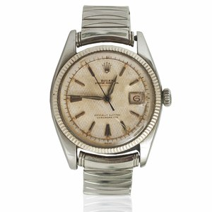 Rolex Men's Stainless Oyster Perpetual Datejust Watch