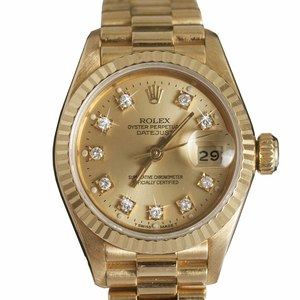 Rolex Ladies 18k President Datejust with Diamond Dial