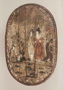 Antique Wood Bride's Box