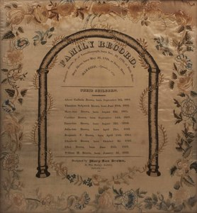 18th c Needlework Family Record