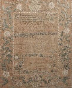 Large 1820 Schoolgirl Sampler