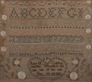 1822 Schoolgirl Sampler