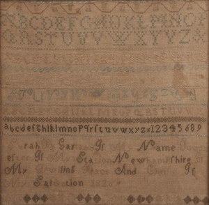1820 Schoolgirl Sampler