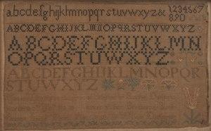 1819 Schoolgirl Sampler