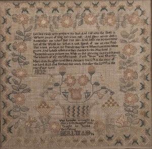 1832 Schoolgirl Sampler