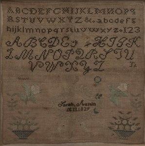 1829 Schoolgirl Sampler