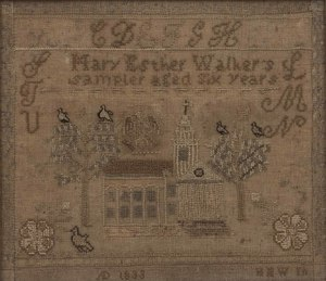 1833 Schoolgirl Sampler