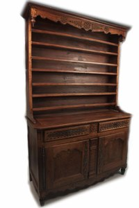 Antique Fruitwood Hutch