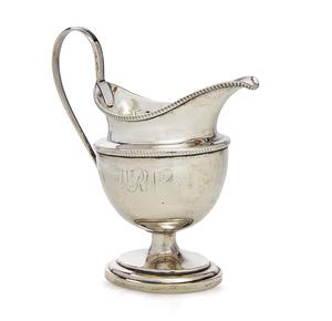 Coin Silver Creamer, Robert Swan (1799-1831), 6.47 ozt.