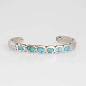 Navajo turquoise and silver bracelet