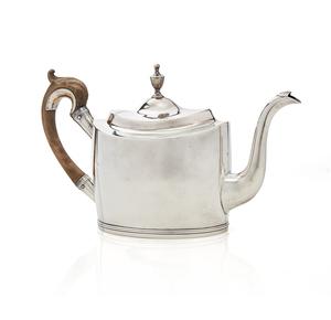 Coin Silver Teapot, Christian Wiltberger (1793-1819), 21.87 ozt