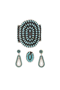 Assorted Zuni Silver and Turquoise Jewelry