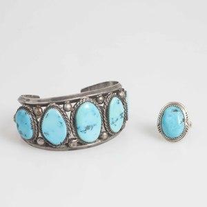 Charlene Dishta Bracelet and Turquoise Ring