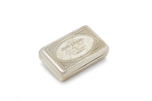 W.K. Vanderslice & Co. Silver Presentation Snuff Box, 3.47 ozt