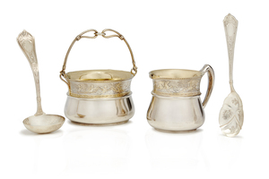 Cased San Francisco Sterling Silver Hollowware, 15.11 ozt