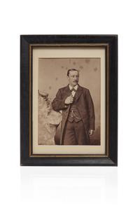 Captain Martin A. Brandt's Gold Pocket Watch Anchor Fob and Photo, 23 grams