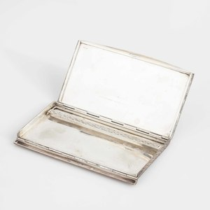 .800 French Silver Engraved Cigarette Case, 8 ozt