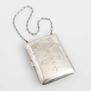 Sterling Silver Compact/Coin Dance Purse