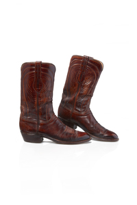 Pair of Men's Lucchese Cowboy Boots, 10.5 B