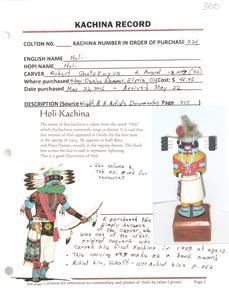 Hopi Holi Kachina, Robert Quotskuyva