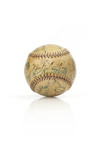 Babe Ruth, Lefty O'Doul, Lefty Grove and others Signed Baseball (1927-1930)