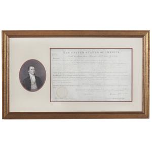 James Monroe 1823 Land Grant