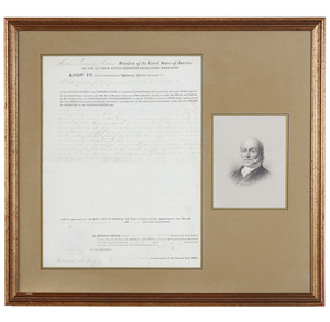 John Quincy Adams 1827 Land Grant