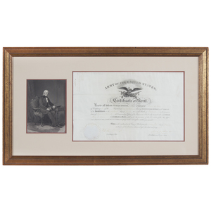 James Polk 1848 Army Certificate of Merit
