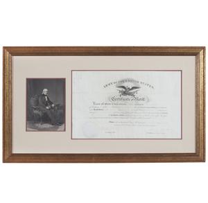 James Polk 1848 Army Certificate of Merit