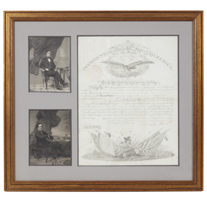 Franklin Pierce 1854 Military Appointment