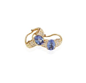 14k Tanzanite Diamond Earrings