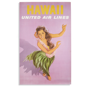 United Airlines Hawaii Poster