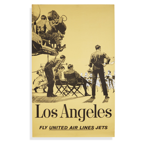 United Airlines Los Angeles Poster