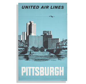 United Airlines Pittsburgh Poster