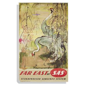 Otto Nielson SAS Far East Travel Poster
