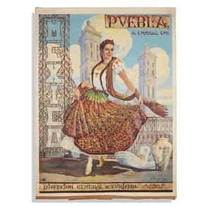 Pueblo Mexico Travel Poster