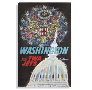David Klein TWA Washington D.C. Poster