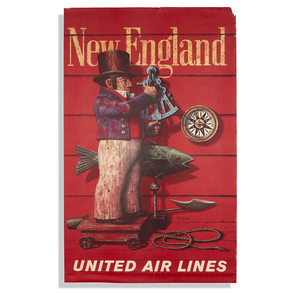 Stan Galli United Airlines New England Poster