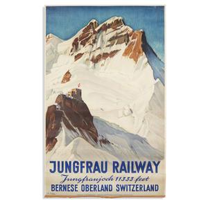 Ernst Hopel Jungfran Railway Poster
