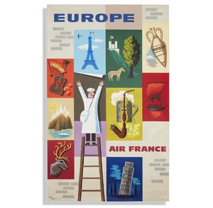 Jean Carlu Air France Europe Poster