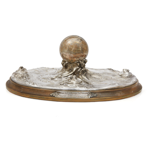 Tiffany & Co. 1913 Presentation Silver Inkwell Centerpiece