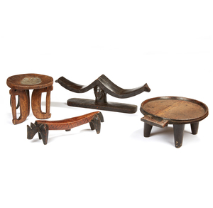 Gurage, Ethiopia Table, Animal Shaped Headrest, Double Luba Headrest, Kenya Stool